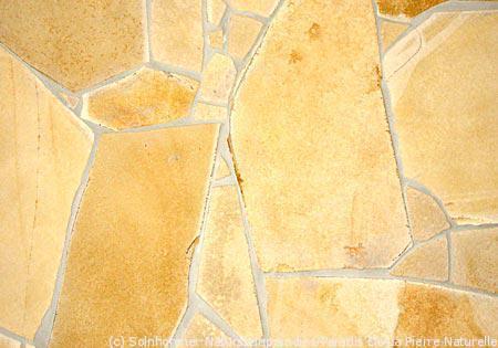 Abbildung 5: Verlegebeispiel Solnhofener Naturstein – Polygonalplatten –